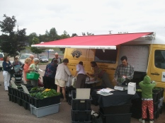 "Our ""New to Us"" Van and CSA vegetable pick-up"