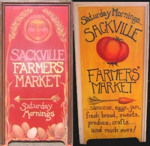 Sackville Farmers Market Signs