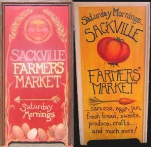Sackville Farmers Market Signs