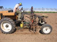 Spring 2012 - Planting Parsnips with our Hefty-G Tractor