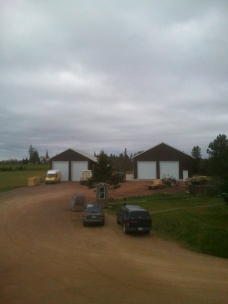 """Barn """"2"""" and """"3"""" in November, Storage Crops are inside for the Winter"""