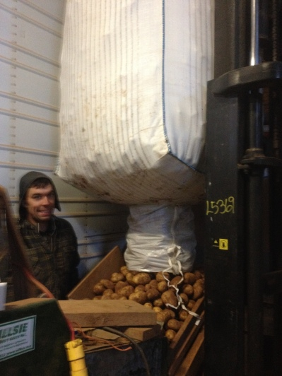 Week 50- Dry brushing potatoes